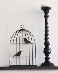 muursticker vogelkooi