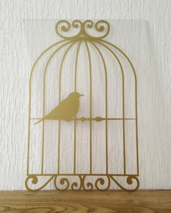 hippe muursticker vogelkooi kopen