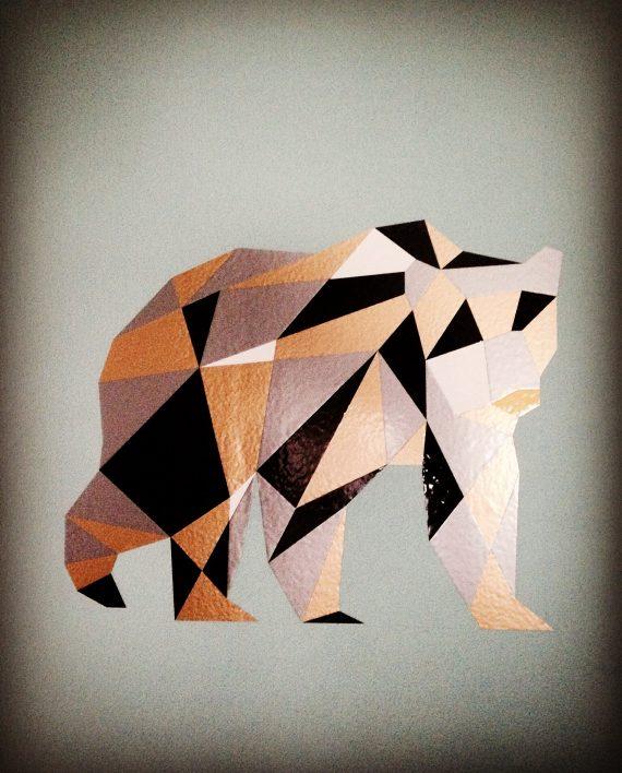 hippe muursticker beer kopen