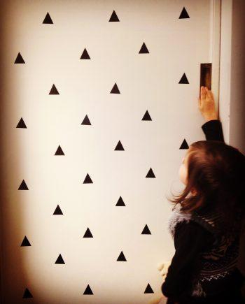Hippe muurstickers driehoek kopen