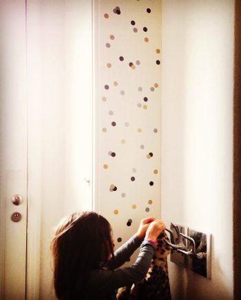 Hippe muurstickers Confetti kopen