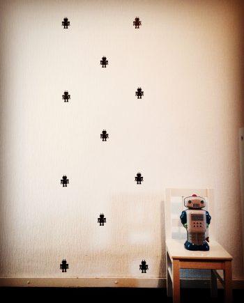 hippe muurstickers robot kopen