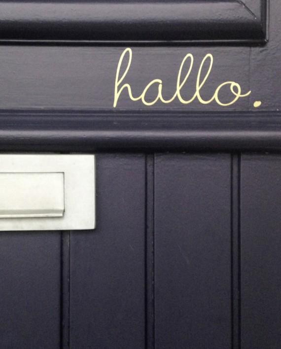 hippe deursticker hallo kopen