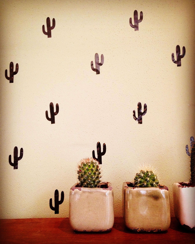 Waar Muurstickers Kopen.Muurstickers Cactus Hippe Muurstickers